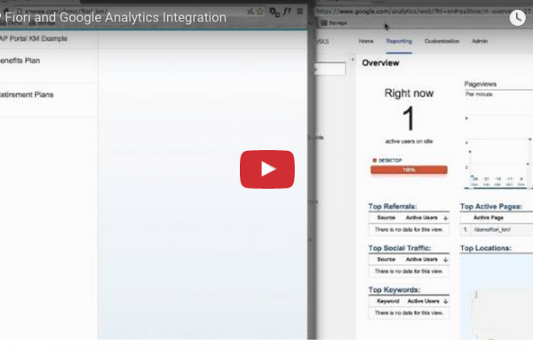 Google Analytics with SAP Fiori