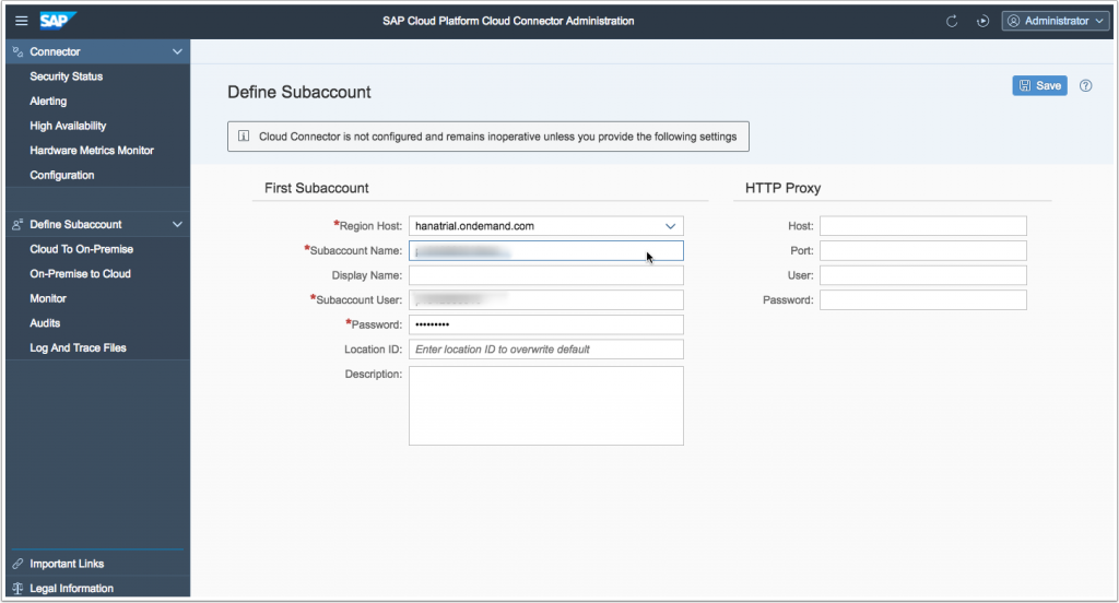 SAP Cloud Connector - Setup Walk Through